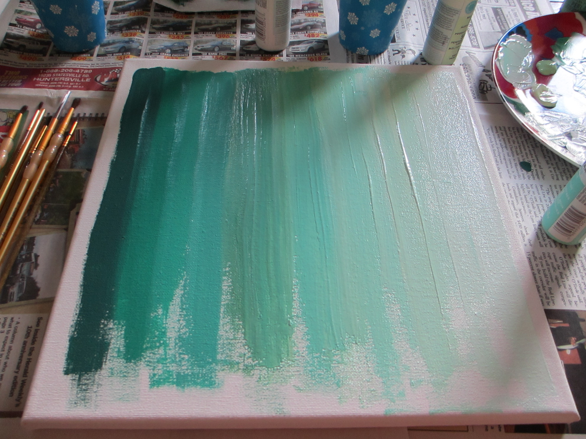 Ombre Art {DIY} - Two Delighted