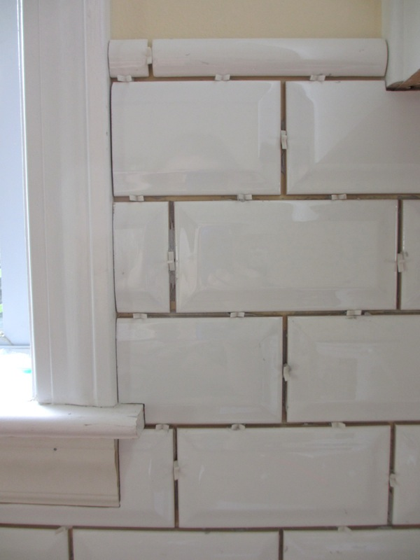 Tiling Backsplash {Beveled Subway Tile} u2013 Two Delighted