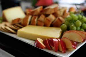 game night cheese platter