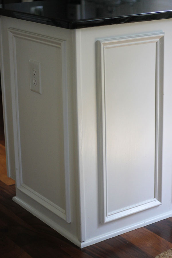 My kitchen before and after two delighted for Adding crown molding to kitchen cabinets before after