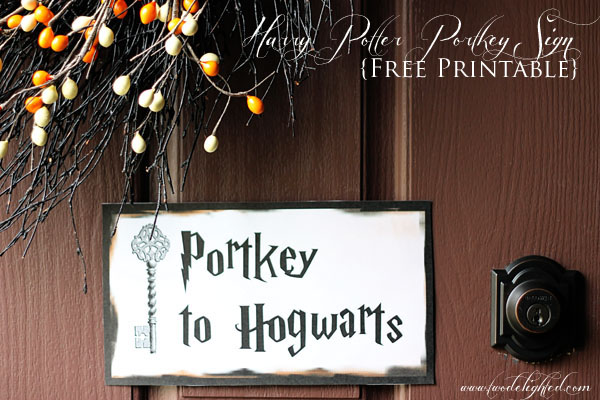 harry potter party signage  free printables   u2013 two delighted