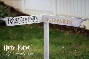 harry potter directional sign diy