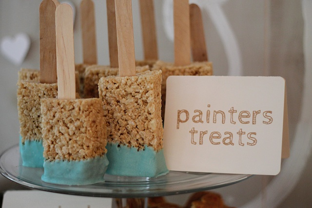 LRT Gender Reveal painters treats | Two Delighted