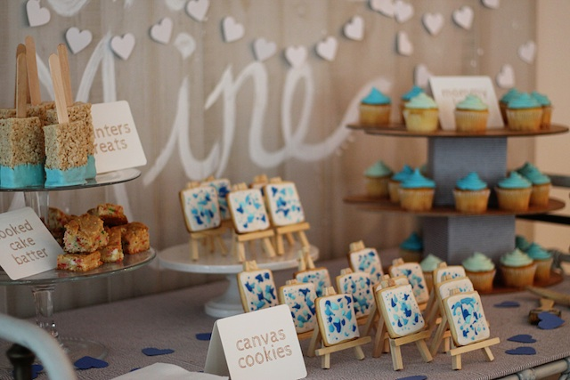 LRT Gender Reveal table 2 | Two Delighted
