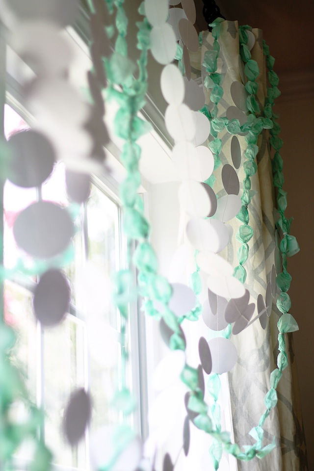 Twisted Tissue Garland DIY long | Two Delighted