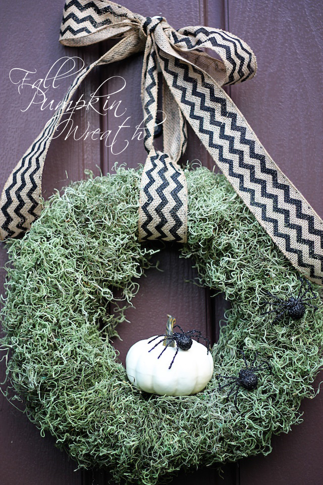 Fall Pumpkin Wreath DIY 1 | Two Delighted copy