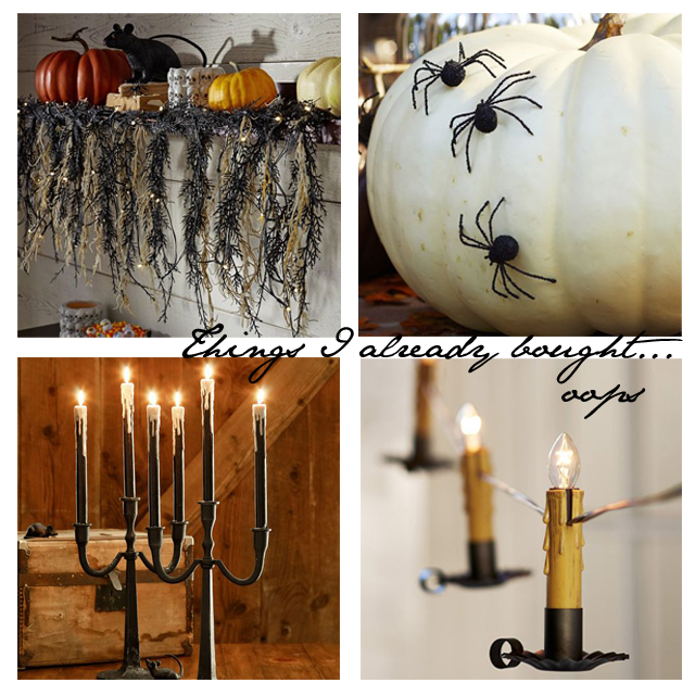 Pottery Barn Halloween purchases