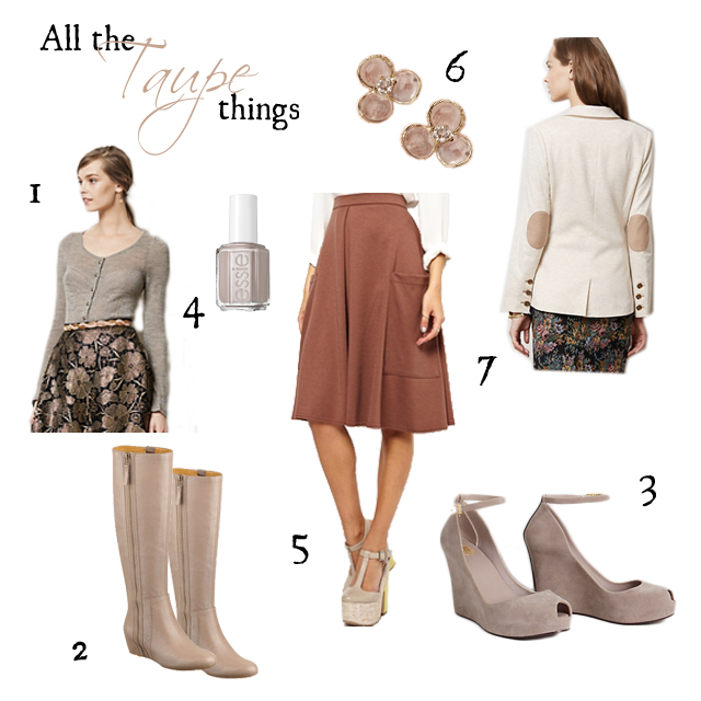 taupe collage