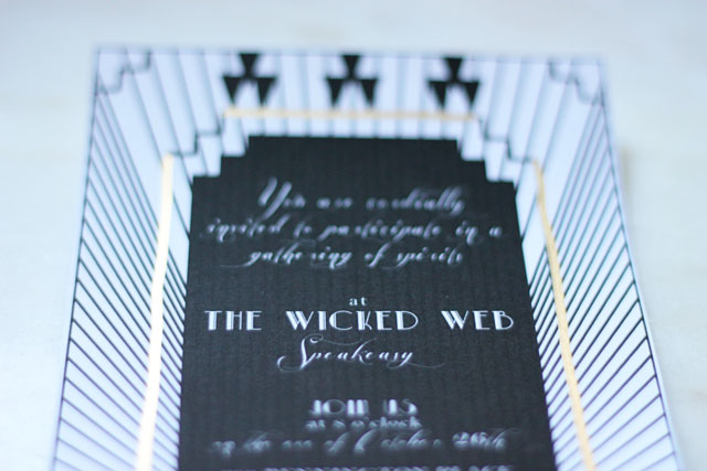 A Haunted Speakeasy Invite 5 | Two Delighted