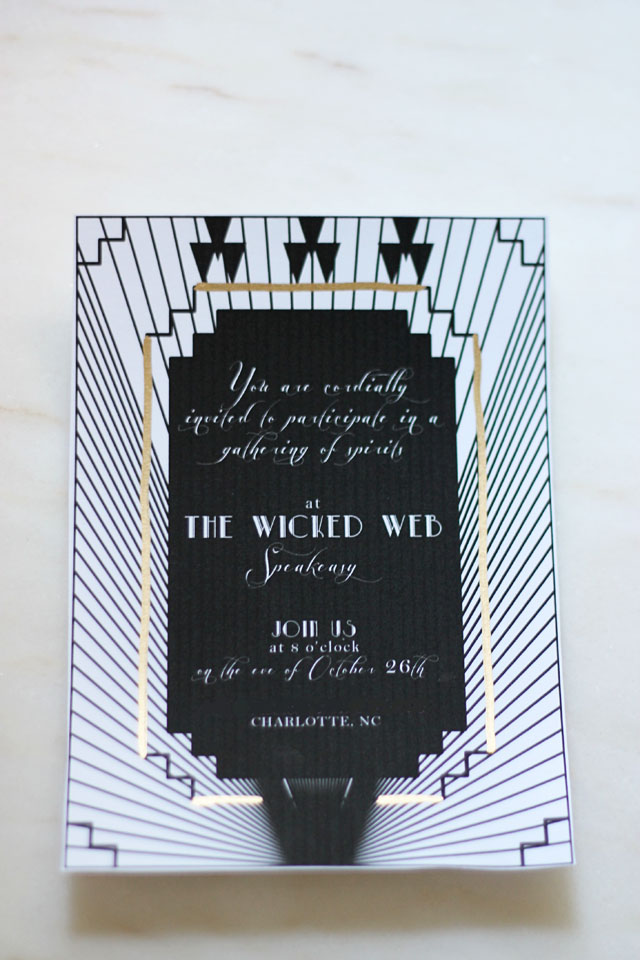 A Haunted Speakeasy Invite 2 | Two Delighted