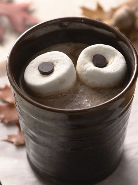 halloween goodies hot chocolate eyes