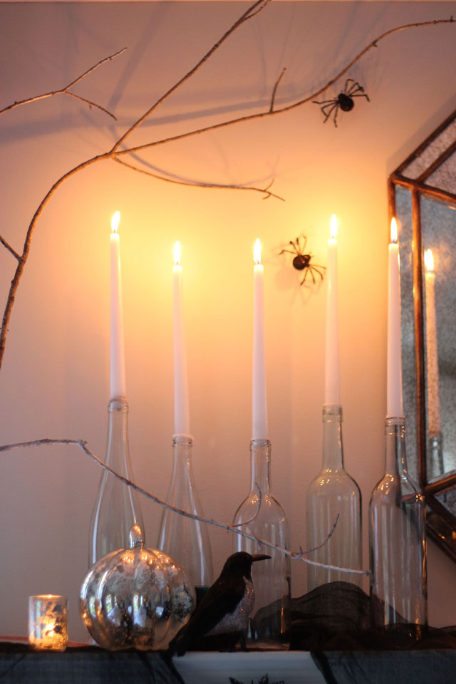 Haunted Speakeasy how to bottles and candles | Two Delighted