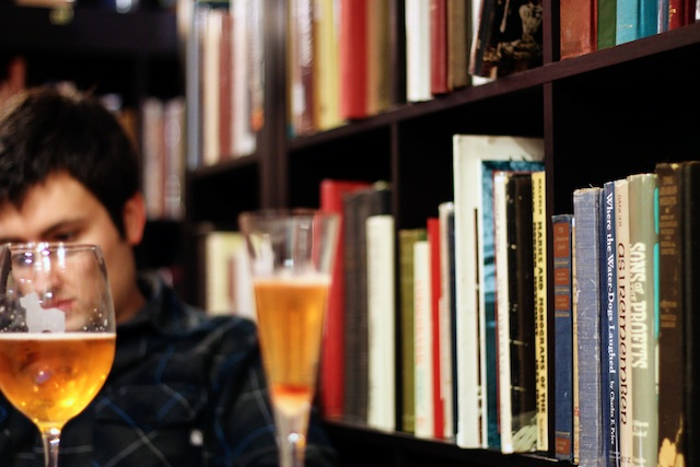 Biltmore Chris in books with drinks blog