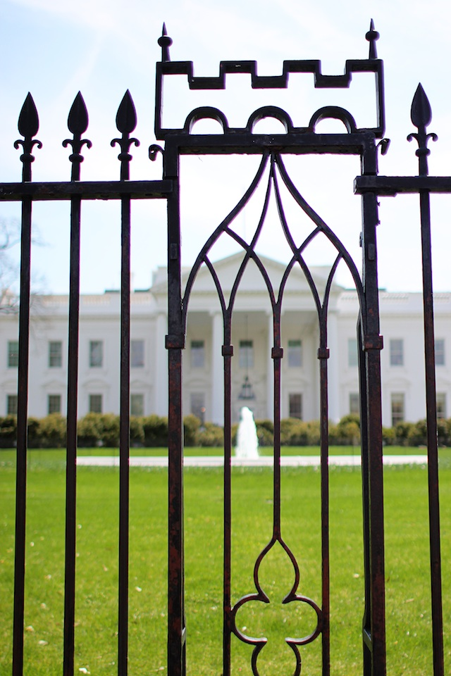 white house gate | Two Delighted