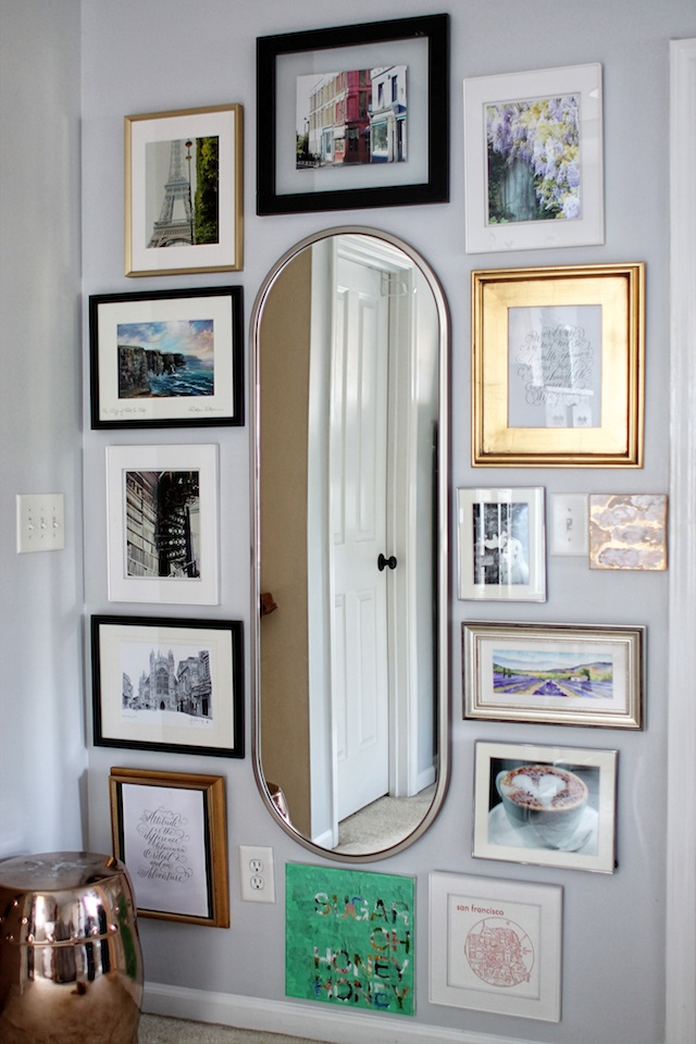 Mirror gallery wall full | Two Delighted