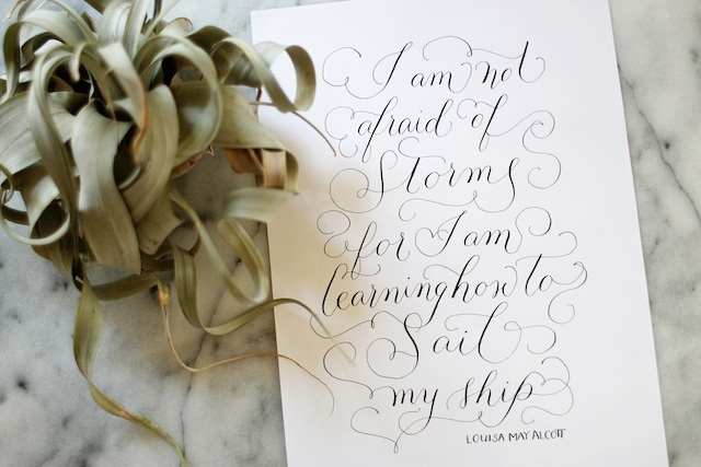 alcott calligraphy blog