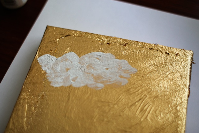 gold cloud art step 6 Two Delighted