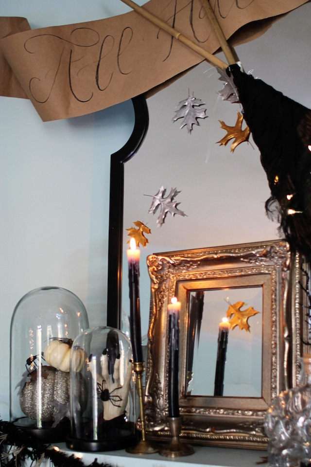 Halloween 2014 mantel left side blog