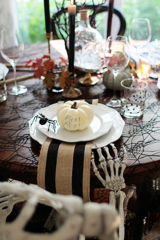 witch tablescape hand blog