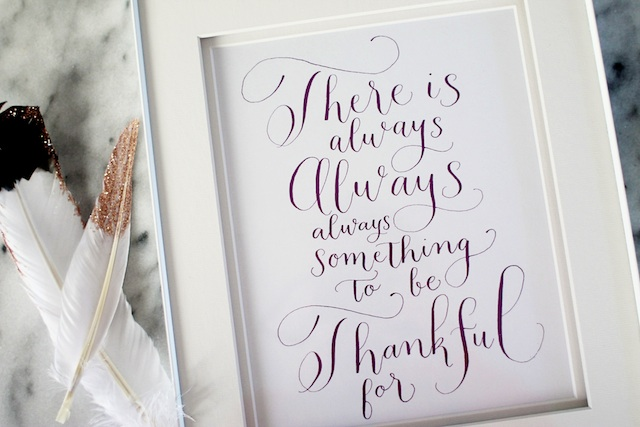 Free Thanksgiving Calligraphy printable | Two Delighted