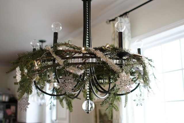 greenery chandelier 2 | Two Delighted