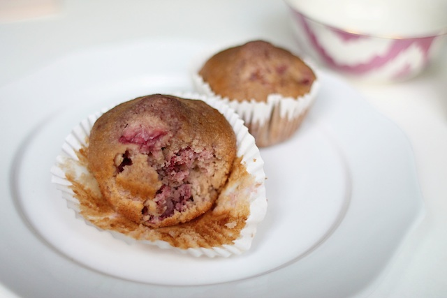 Strawberry rosewater muffins last | Two Delighted