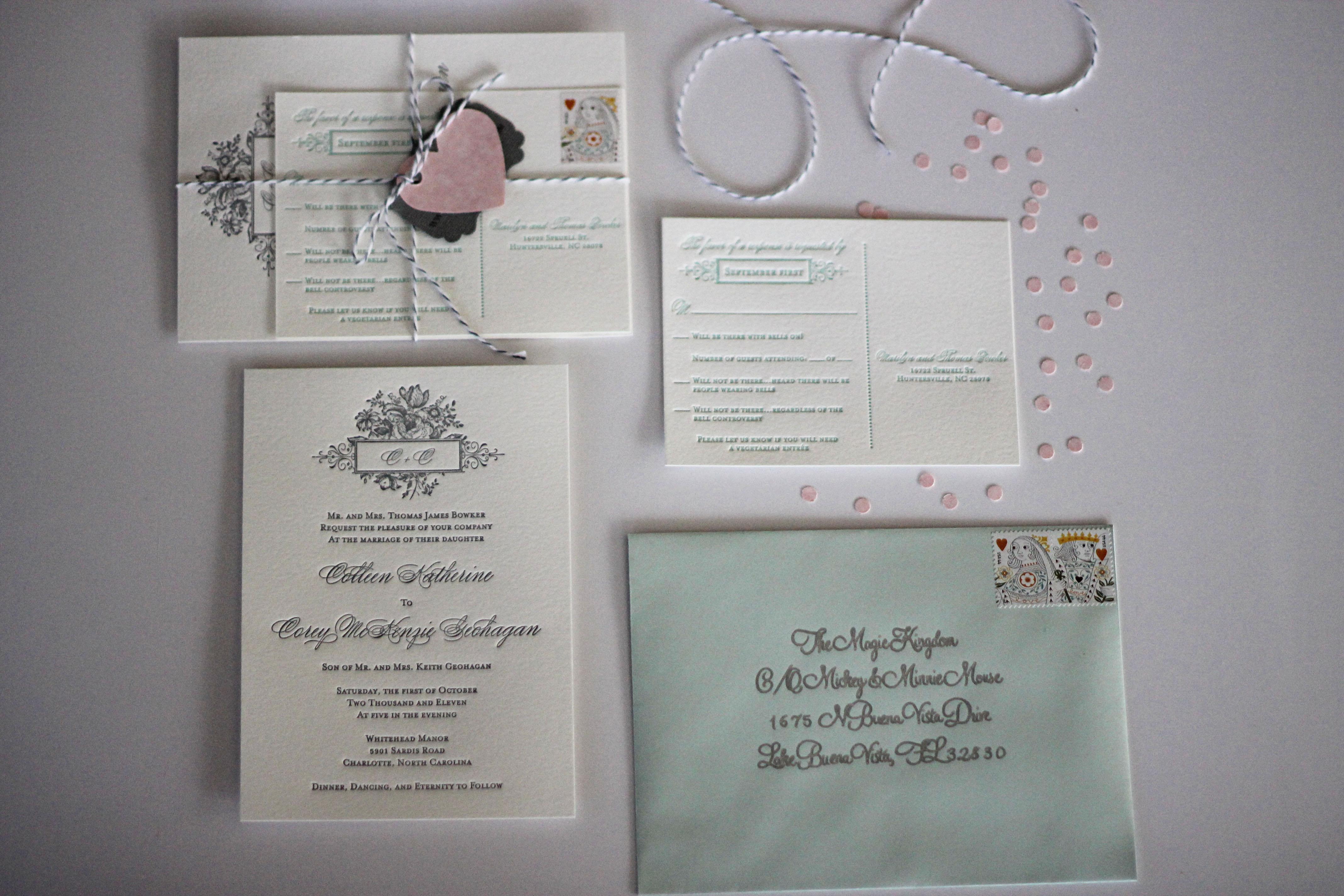 Diy Addressing Wedding Invitations: Fancying Up Your Wedding Invitations {DIY}