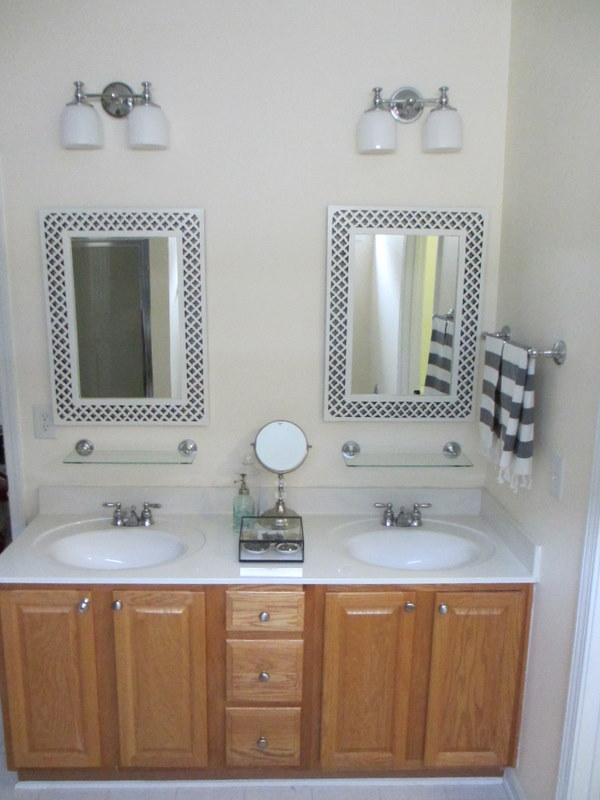 before i painted the vanity all - Painted Bathroom Cabinets Before And After