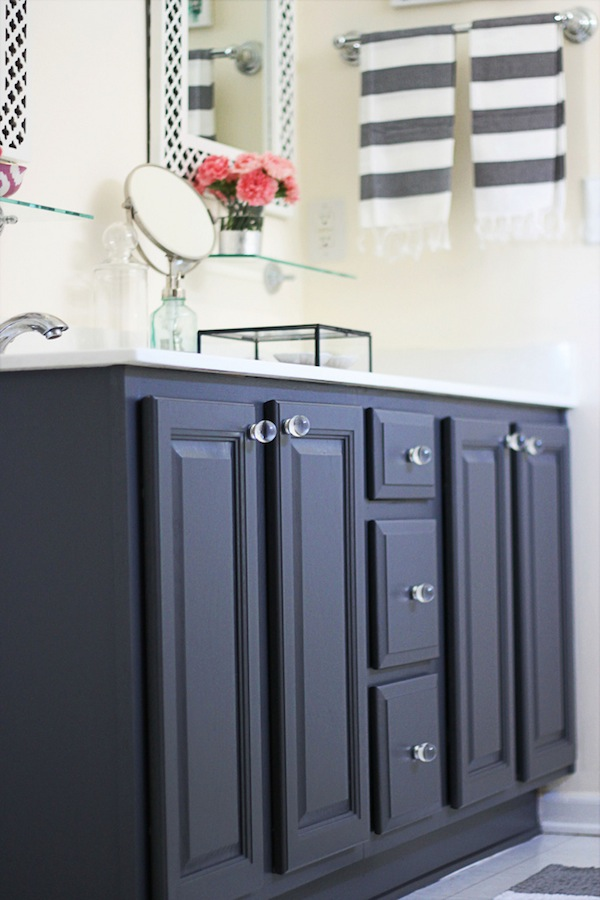Bathroom Cabinet Color Ideas my painted bathroom vanity before and after – two delighted