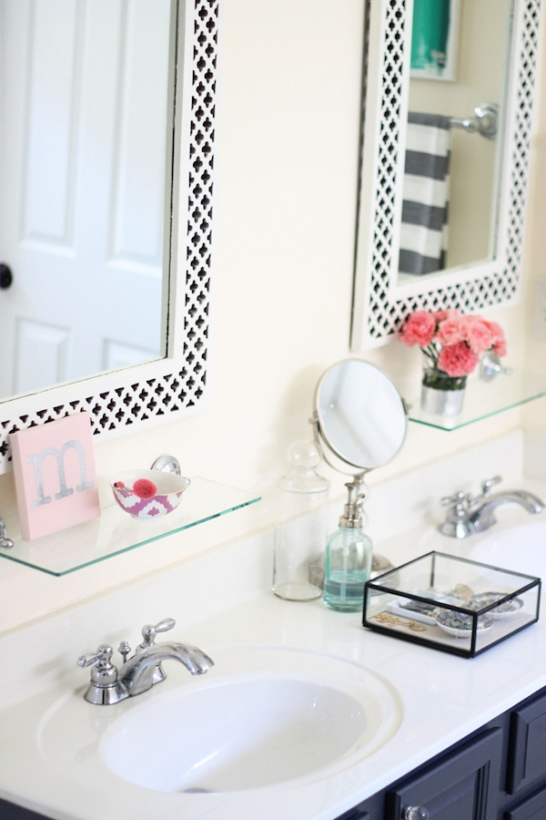 my painted bathroom vanity before and after