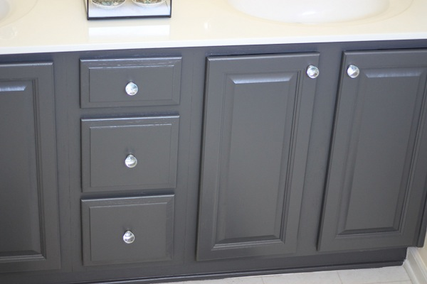 Refinishing your kitchen or bathroom cabinets cabinet refinishing - My Painted Bathroom Vanity Before And After Two Delighted