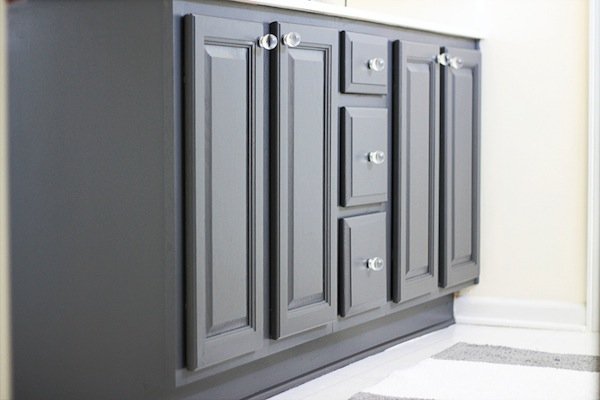 Painting Bathroom Cabinets Gray my painted bathroom vanity before and after – two delighted