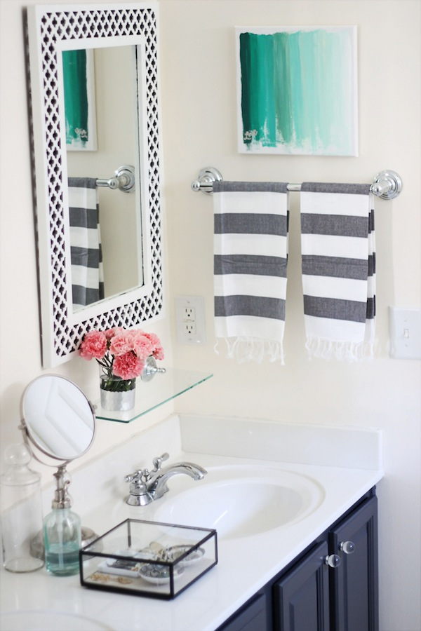 My Painted Bathroom Vanity Before And After – Two Delighted