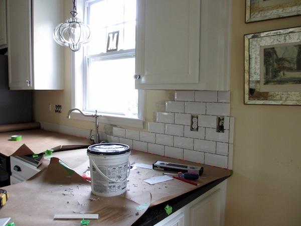Tiling Backsplash Beveled Subway Tile Two Delighted