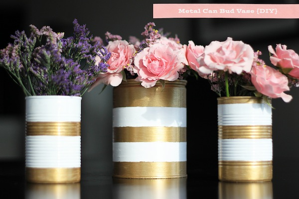Metal Can Bud Vase Diy Two Delighted